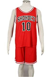 a642dd850 Love Anime Cosplay Costume Uniform-Sakura Basketball Shohoku Red Jersey  No.10