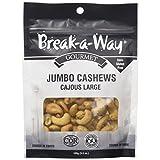 Break-A-Way Gourmet Jumbo Cashews, 100g