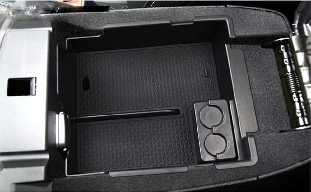 Salusy Bigger Car Center Console Armrest Box Glove Box Secondary Storage Compatible with Ford Explorer 2012-2019
