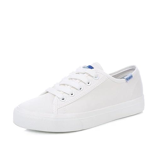 Mujeres de los zapatos de lona transpirable Joker/Bajo fondo plano literario enfermera casual zapatos-A Longitud del pie=22.3CM(8.8Inch)  black-us9.5-10 / eu41 / uk7.5-8 / cn42  talla 38  black-us9.5-10 / eu41 / uk7.5-8 / cn42   Talla 40 AdeeSu - zapatilla baja mujer 75UehBVr