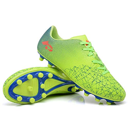 DBQWTY High-Performance Non-Slip Lawn Football Shoes Men and Boys Soccer Shoes Football Team Artificial Venue Green