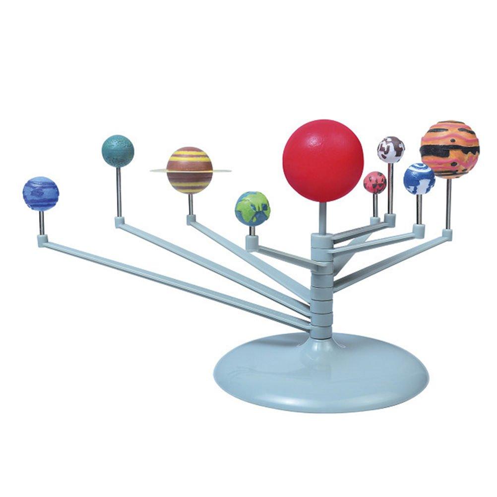 OKOKMALL US--Sunlight Solar System Celestial Bodies Planets Model Educational Toy DIY Gift JR