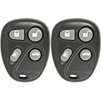 Keyless2Go Keyless Entry Car Key Fob Replacement for Vehicles That Use 4 Button KOBLEAR1XT 25695966 Remote - 2 Pack