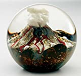 Glass Eye Studio Volcano Blown Glass Paperweight