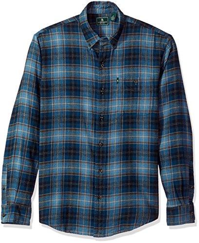 G.H. Bass & Co. Men's Fireside Flannels Long Sleeve Button Down Shirt, Blue Wing Teal XX-Large from G.H. Bass & Co.