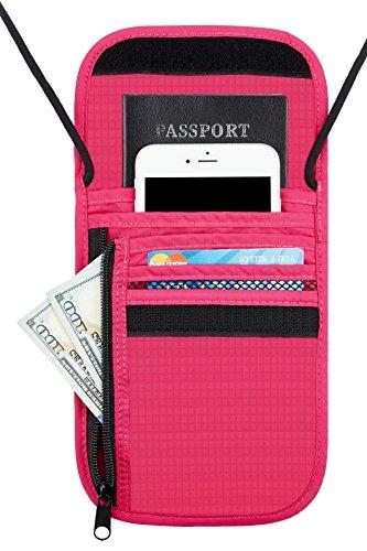 Travelambo Neck Wallet and Passport Holder Travel Wallet wit