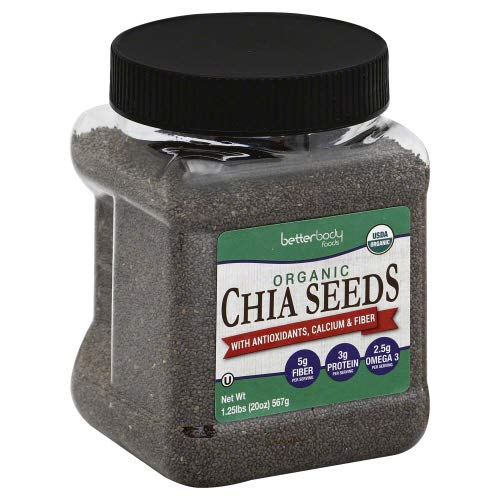 Betterbody Chia Seed Black 1.25 LB (Pack of 3)