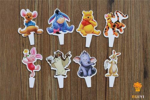 (Winnie the Pooh Cupcake Flexi Picks - Set of)
