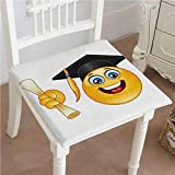 Best Bed  A Bag Sets   Students - Mikihome Classic Decorative Chair pad Seat Smiley Character Review