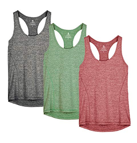 f4687a2a767 icyzone Workout Tank Tops for Women - Racerback Athletic Yoga Tops