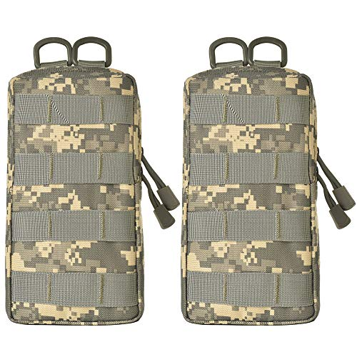 - GZSAIPASI Molle Tactical Pouches EDC Waist Bag Pack Small Gear Gadget for Backpack (ACU)