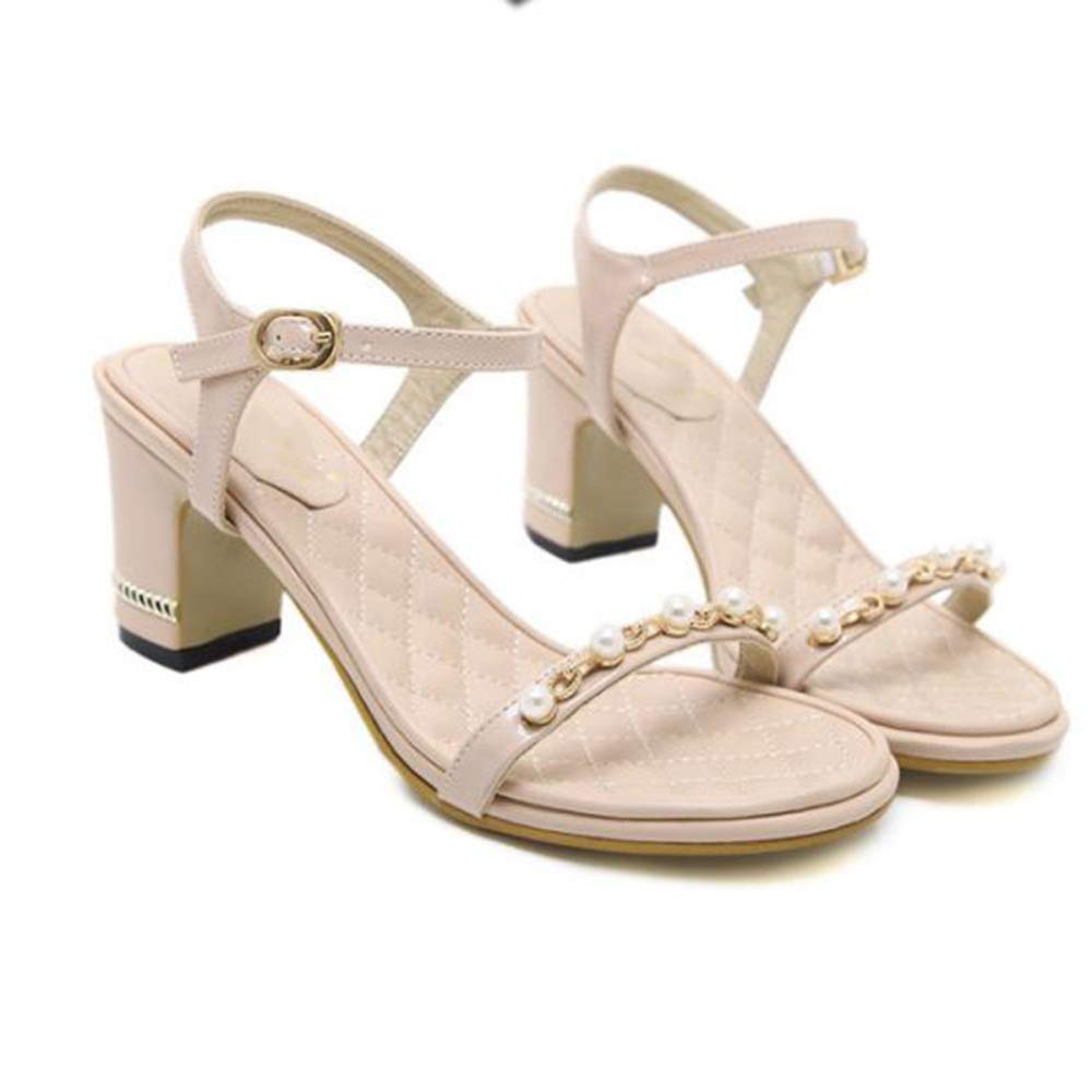 Damen Mary Jane Court Schuhe Sandalen Damen Mitte Block Ferse Knöchelriemen