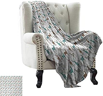 Admirable Amazon Com Belleackerman Flannel Throw Blanket Antler Gmtry Best Dining Table And Chair Ideas Images Gmtryco
