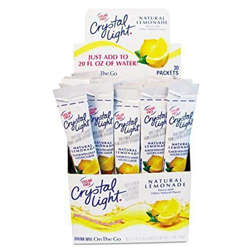 Crystal Light Products Crystal Light-Flavored Drink Mix, Lemonade, 30 8-oz. Packe beverages, PACK OF 1, Yellow