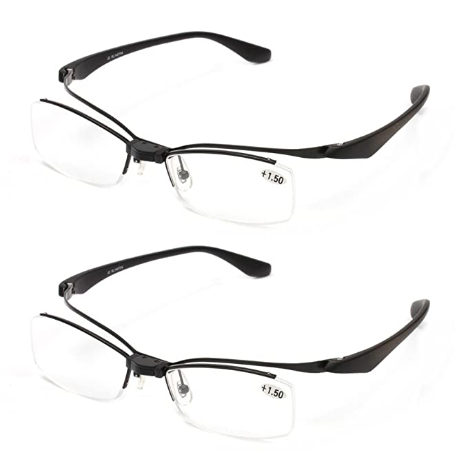 Amazon.com: yellowrock ligero flip-up TR90 gafas de lectura ...