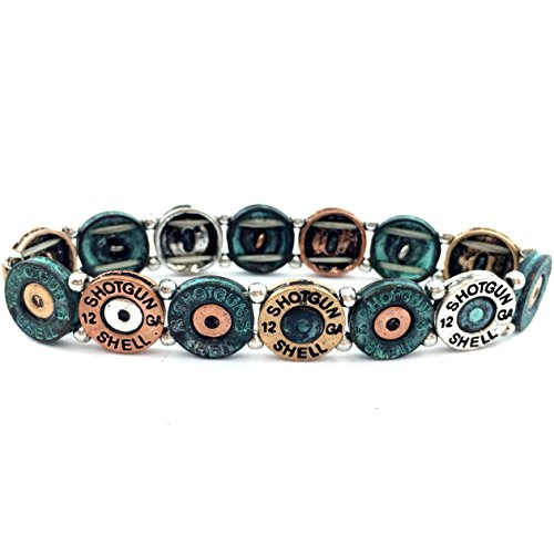 Shell Stretchable Bracelet (Western Peak Western Vintage 12 Gauge Shotgun Shell Stretchable Bracelet Patina (Blue))