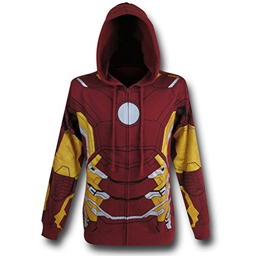 Iron Man Suit-Up Costume Hoodie- Men's (Iron Man Costume Suit Up)