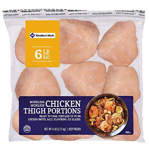 Member's Mark Boneless Skinless Chicken Thigh Portions (6 lb)