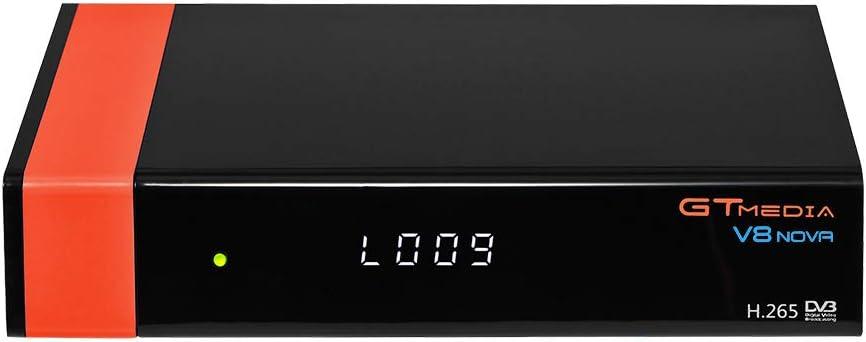 Decodificador Satelite -- GT MEDIA V8 Nova -- Receptor de TV por Satélite DVB-S/S2 Astra 19.2E con WiFi Ethernet SCART HEVC H.265 1080P Full HD