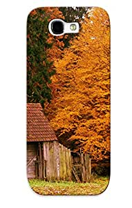 Exultantor Top Quality Rugged Landscapes Forest Autumn Fall Leaves Colors Architecture Case Cover Deisgn For Galaxy Note 2 For Lovers
