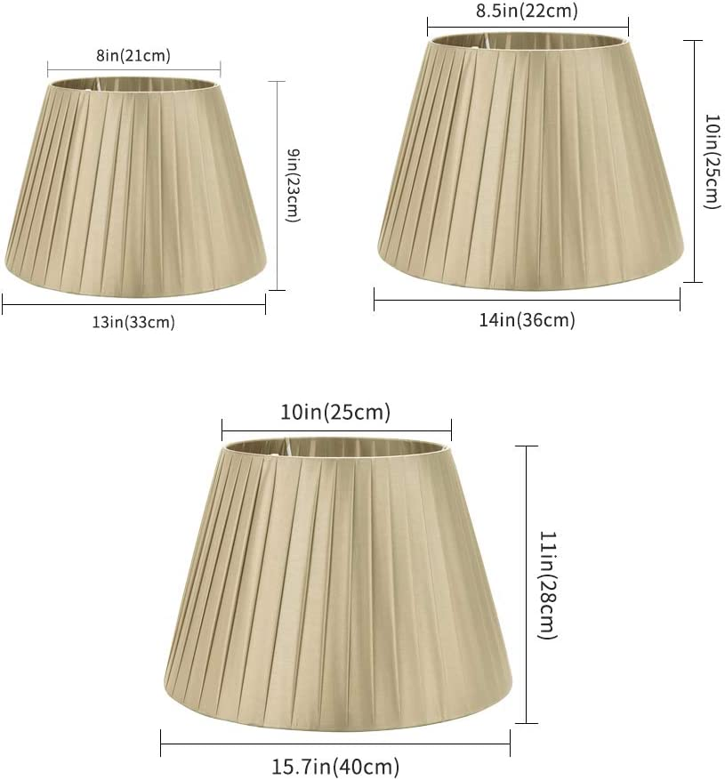 Braun 40 cm 28 cm x Top DULEE 15,7 Zoll E27 Schraube Tisch Lampenschirme F/ür Tischlampe Stehlampe, unten 25 cm x H/öhe