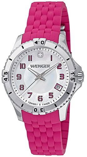 Wenger 121.101 Silicone Ladies Watch - Mother Of Pearl Dial