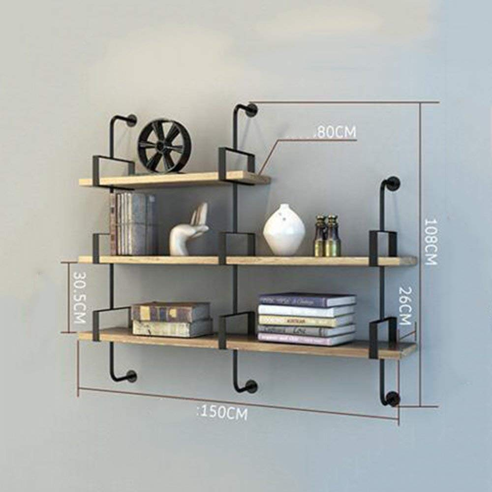 B DYR Shelving Multi-Storey Shelving Wall Suspension for Bedroom Club Hotel Living Room (color  1 Layer 100cm)