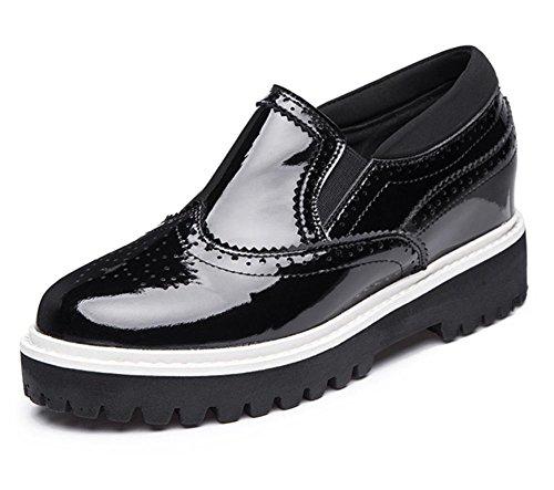 scarpe ascensore Ms. primavera fondo pesante scarpe Scuola di singola pendenza scarpe vento focaccina con piccole scarpe