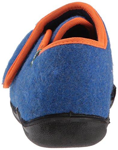 Kamik Boys' Cozylodge Slipper, Blue/Orange, 5 Medium US Toddler - Image 2