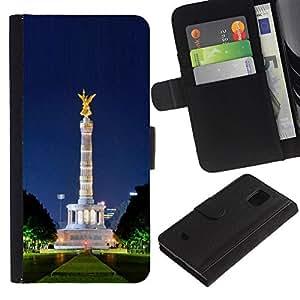 Ihec-Tech / Flip PU Cuero Cover Case para Samsung Galaxy S5 Mini, SM-G800, NOT S5 REGULAR! - Architecture