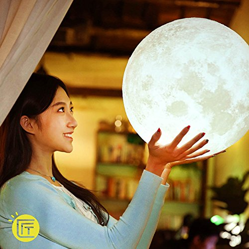 3D Printing Moon Light Lamp Charging Moon Night Light for Girl Friend Gift (35 cm) by GER