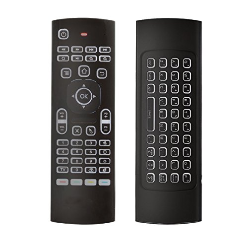 Smart Remote Control Replacement , BIFANS Multifunctional Backlit Remote with Keyboard, Mini Wireless Keyboard & infrared Remote Control for KODI Samsung TV Android Box HTPC IPTV PC Pad XBOX 360
