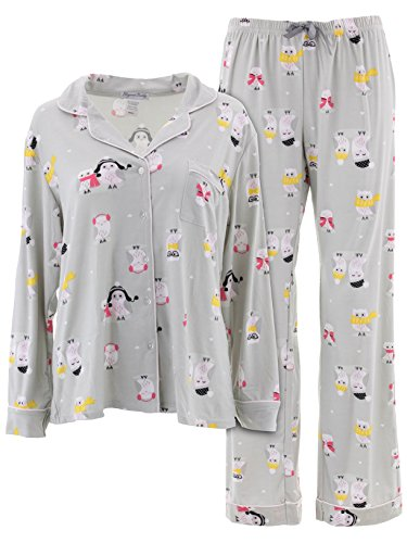 Pj Coat Set (Elegant Emily Juniors Gray Owl Pajamas M)