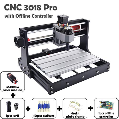 CNC 3018 Pro with 5500mw laser module CNC engraver Laser engraver CNC  engraving machine Laser engraving machine CNC carving machine CNC router  milling