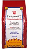 Puroast Low Acid Coffee Half Caff House Blend Drip Grind, 2.5-Pound Bag