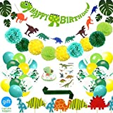 69 Pack Dinosaur Party Supplies Little Dino Party Decorations Set for Kids Birthday Party, Baby