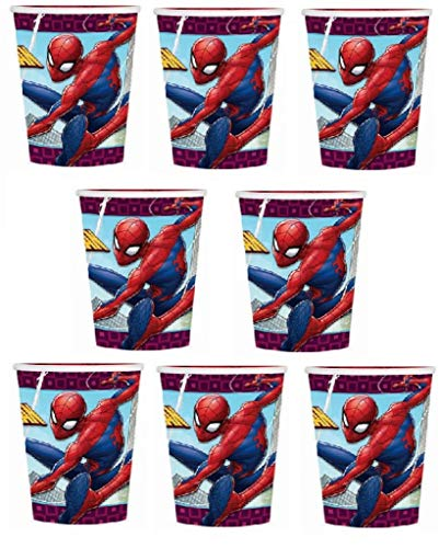 Amazing Spider Man Paper - Marvels Amazing Spiderman Birthday Party 9oz of 16x Paper Cup ~ Birthday Party Supplies Favors