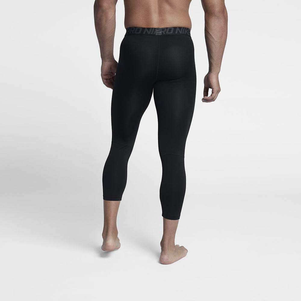 Nike Men's Pro 3qt Tight (Black/Anthracite/White, Small) by Nike (Image #3)