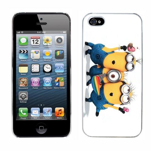 Moi moche et méchant Despicable Me Minions Film cas adapte iphone 5 couverture coque rigide de protection (4) case pour la apple i phone
