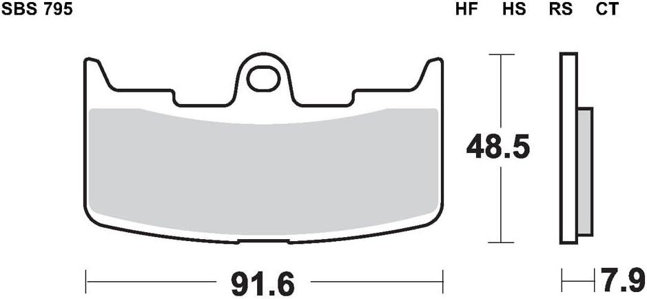 HF-Keramik Buell XB9SX 984 CityX Bj SBS Bremsbelag VORNE 2005-2010