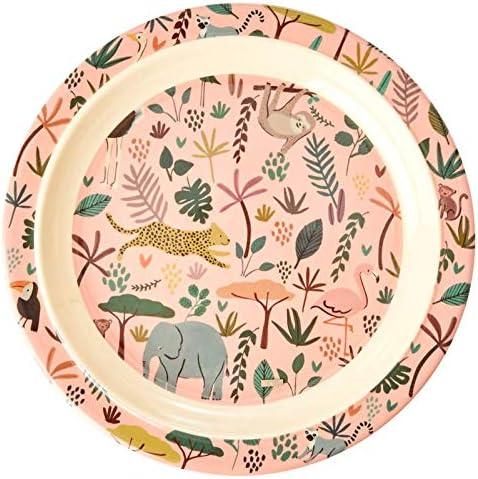 Melamingeschirr Serie Jungel Animals Print Farbe coral verschiedene Artikel Artikelvariante Teller flach Kinder