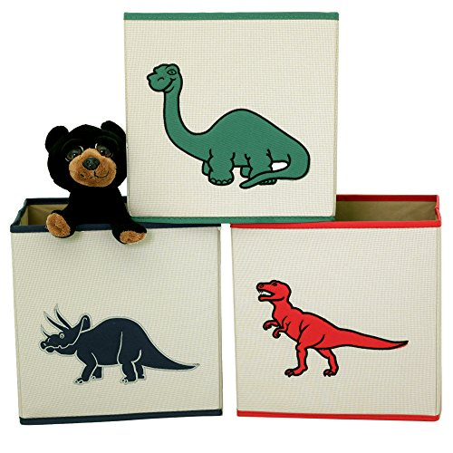 Dinosaur Cube Storage Bins Toy Organizers Trex Triceratops