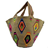 Wayuu Bag - X-Large Beach Bag Mochila - Design - Rare - 3004