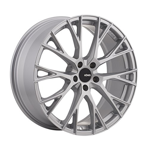 Konig Interflow 18x8 Silver Wheel / Rim 5x112 with a 32mm Offset and a 66.56 Hub Bore. Partnumber IT8851232S (112 32)