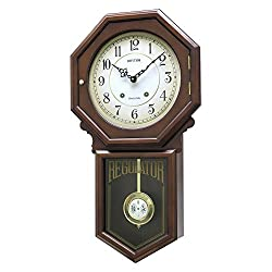 Rhythm USA Colonial Schoolhouse Regulator Wall Clock, Model CMJ377NR06