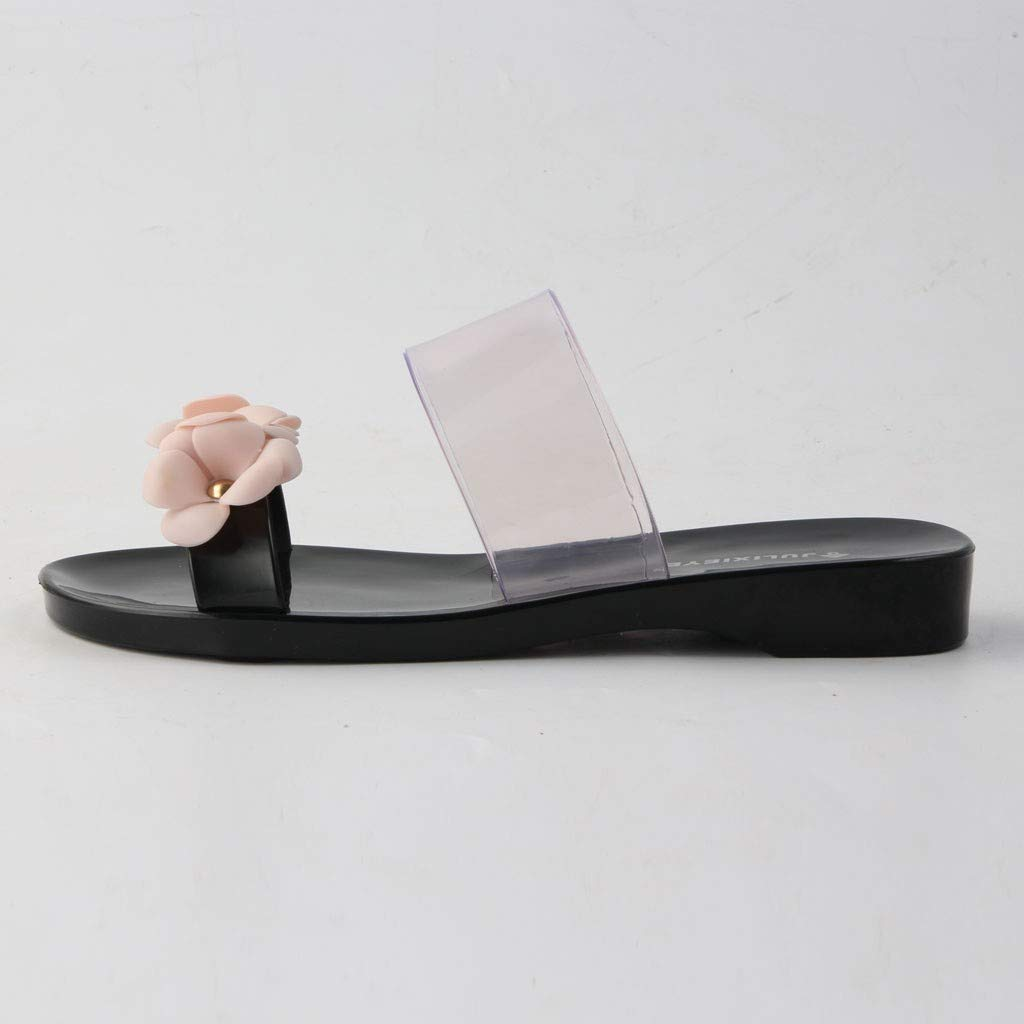43db92dddc2 Amazon.com  kaifongfu Spring and Summer Ladies Beach Sandals Flowers Jelly  Slippers Non-Slip Home Casual Shoes  Clothing