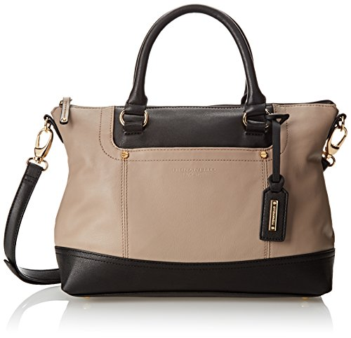 Tignanello Smooth Operator Convertible Satchel, Mushroom/Black, One Size Tignanello Genuine Leather