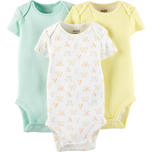Child Of Mine Made By Carters Unisex Baby Short Sleeve Bodysuits (18 Months)