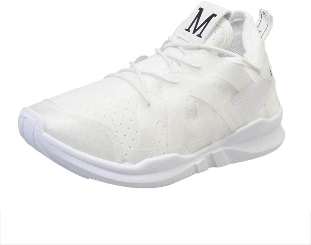 Modaily - Zapatillas de Running para Mujer, Transpirables, cómodas y estables, Blanco, 37: Amazon.es: Hogar