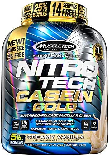 Protein & Meal Replacement: Nitro Tech Casein Gold
